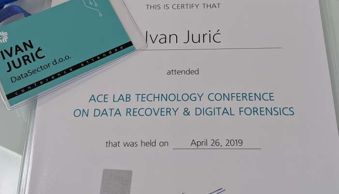 ACE Lab Technology Conference on data recovery, Prag 2019.