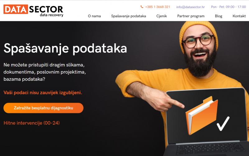 Nova web stranica DataSector